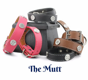 leather dog collars, matching dog collar and bracelet