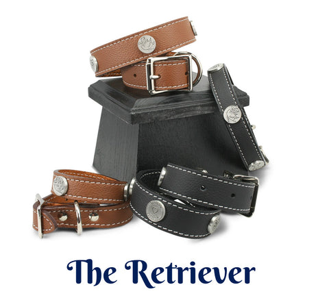 leather dog collars for retrievers, friendship collar