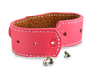 adjustable leather cuff wristband