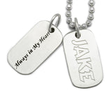 dog tag jewelry engraved pet memorial jewelry