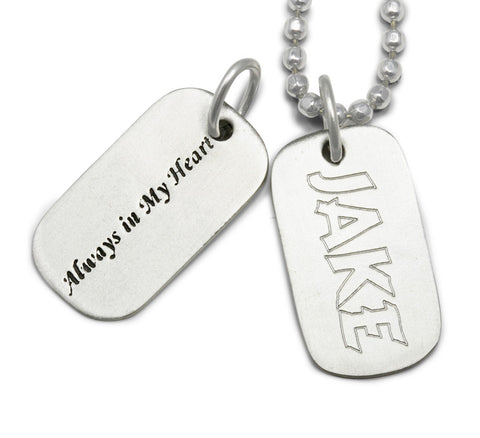 dog tag memorial jewelry, dog tag jewelry engraved