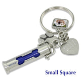 urn keychain with picture charm