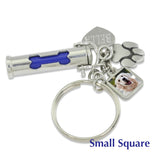 pet ashes urn keychain with photo charm