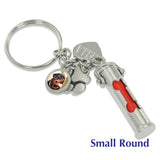 pet cremation keychain with picture charm