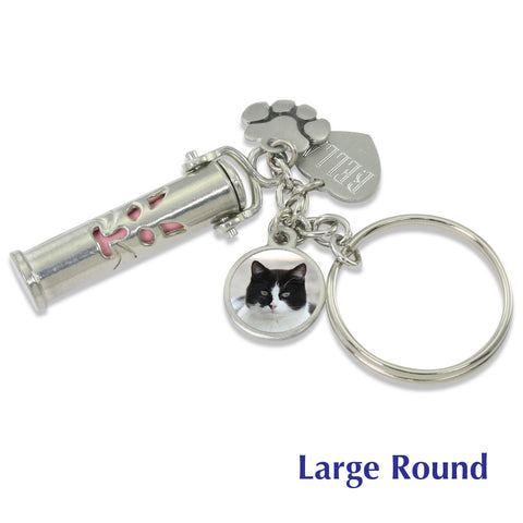 cat memorial keychain urn