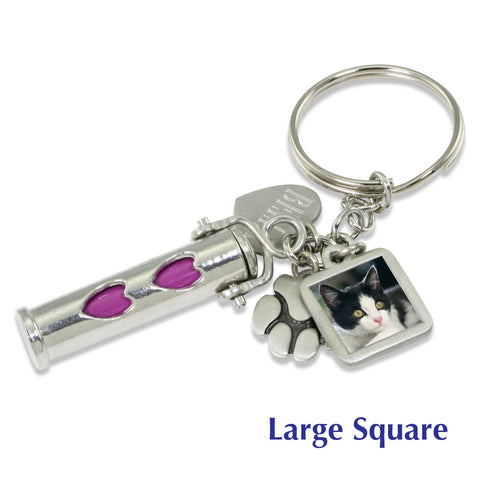 pet cremation ashes keychain customized