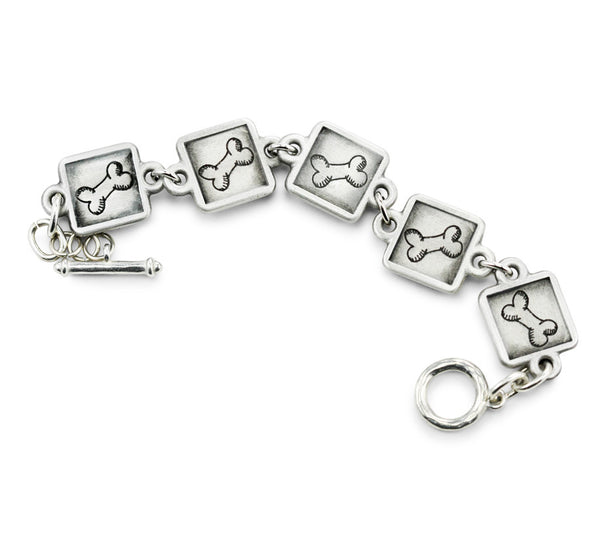 dog bone charm bracelet, dog lover gifts, dog mom gift