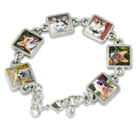 Lila Photo Charm Bracelet Pet Memorial Jewelry