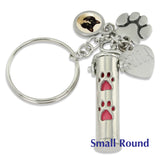 pet memorial personalized keychain urn