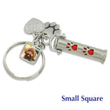 custom pet keychain photo charm engrave