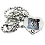 customizable photo necklace