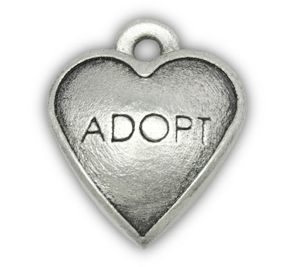Adopt Dog Charm for Dog Charm Bracelets and Photo Bracelets