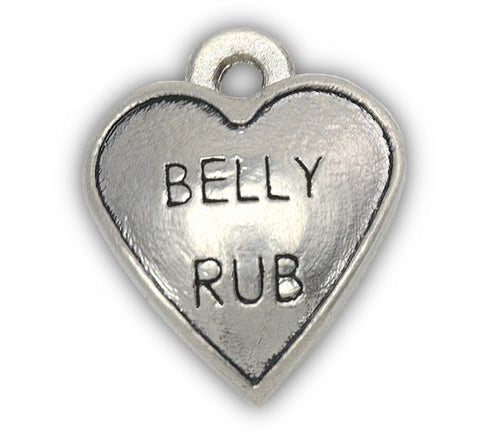 Belly Rub dog charm for dog charm photo bracelet and dog charm bracelet