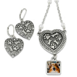 photo jewelry with earrings