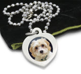 dog necklace photo jewelry photo necklace photo pendant with engraving