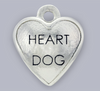 heart dog pet charm
