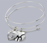 bangle bracelet with pet charms