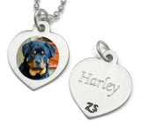 personalized photo necklace pet memorial necklace with engraving