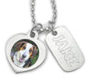 loss of pet necklace dog tag jewelry engraved photo pendant dog necklace