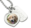 engraved dog jewelry for dog memorial pet memorial necklace photo pendant