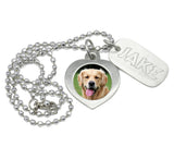 personalized pet memorial necklace dog jewelry necklace dog id jewelry