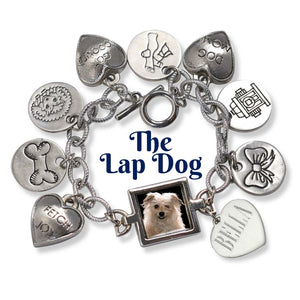 dog charm bracelet with picture