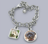 Daisy Custom Photo Bracelet with Pet Charms Pet Memorial Jewelry