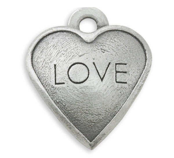 Love dog charm for dog charm bracelets and dog photo bracelets