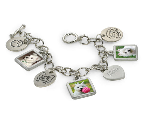 dog jewelry dog charm photo bracelet dog bracelet