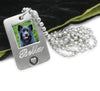 pet necklace with engraving for pet memorial jewelry
