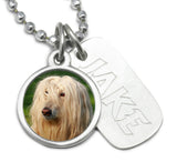 dog remembrance necklace with engraved photo necklace dog jewelry