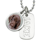 dog necklace for people custom photo necklace dog id jewelry