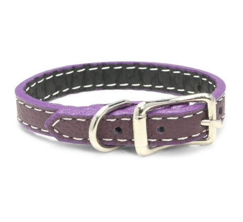 leather wristband eggplant