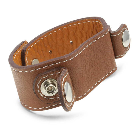 leather cuff wristband brown
