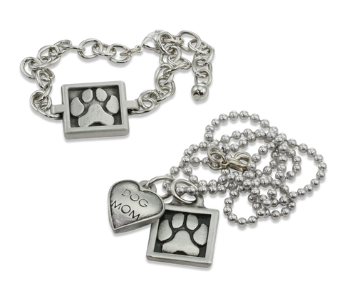 Paw Print Jewelry Set