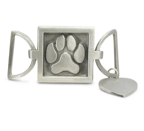 paw print charm for leather cuff bracelet