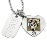 dog tag jewelry engraved with picture necklace dog necklace