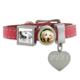pet memorial photo bracelet with engraving
