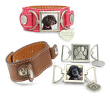 leather cuff pet memorial jewelry