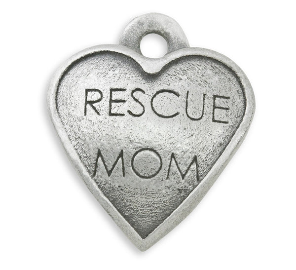 Rescue mom dog charm for rescue and adoption jewelry and dog charm bracelet and photo bracelet