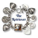 The Retriever Photo Charm Bracelet and Collar Combo