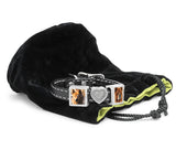 dog memorial gifts, leather bracelet with charms
