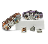 charm photo bracelet, pet photo jewelry, leather slide charm bracelet, dog jewelry