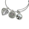cat charm photo bangle bracelet