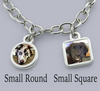 photo bracelet with pet charms