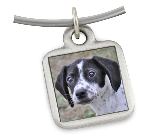 small square picture charm for dog jewelry pet memorial jewelry