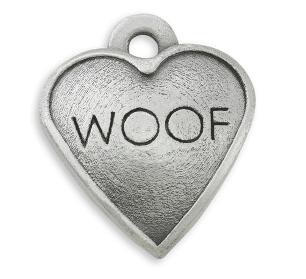 woof dog charm for dog charm bracelets and dog charm photo bracelets