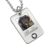 personalized dog necklace gift for dog lover photo pendant