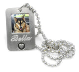 personalized pet photo pendant with engraving