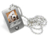 picture necklace dog necklace pet remembrance necklace photo pendant